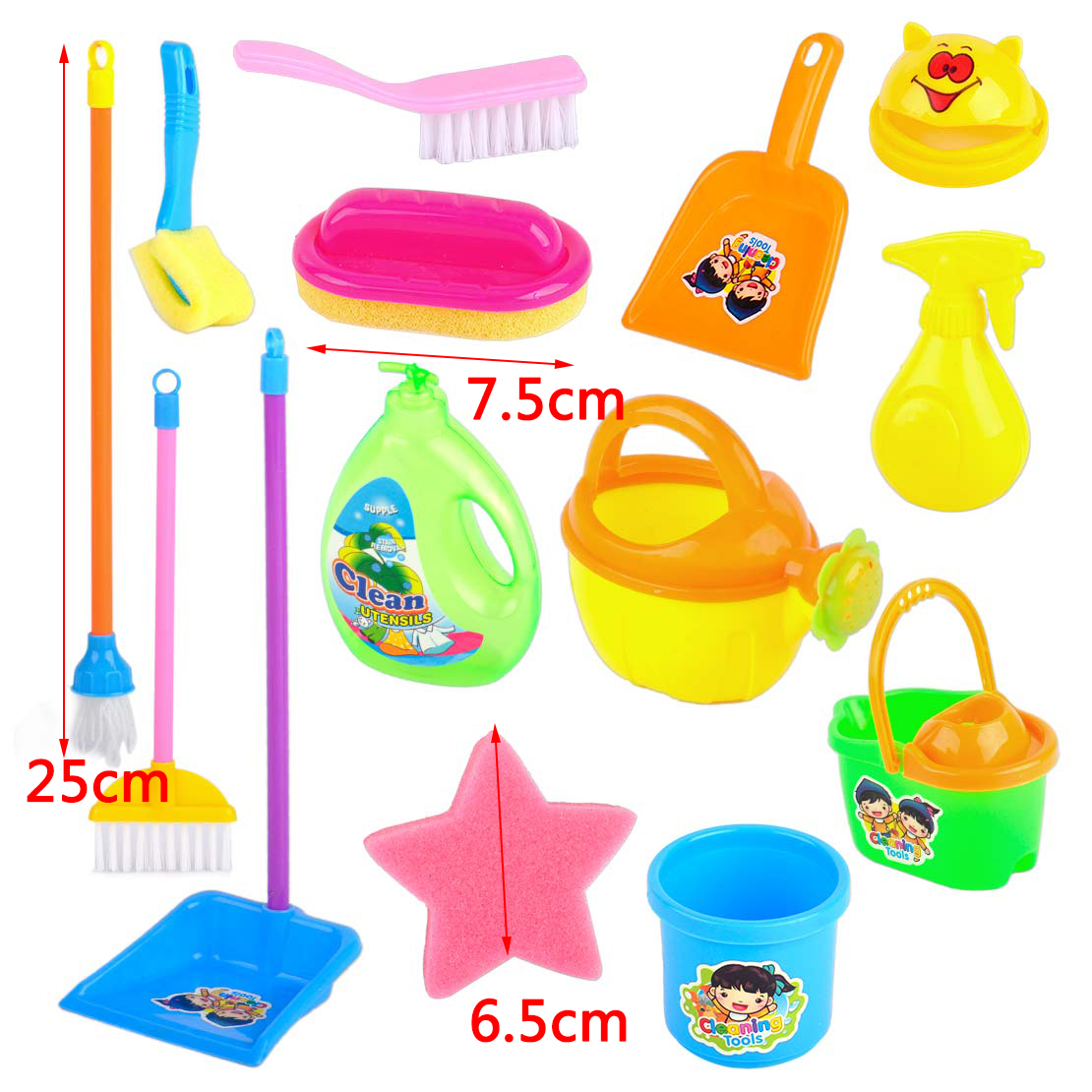 Kids Cleaning Toy Set Pretend Play Housekeeping House