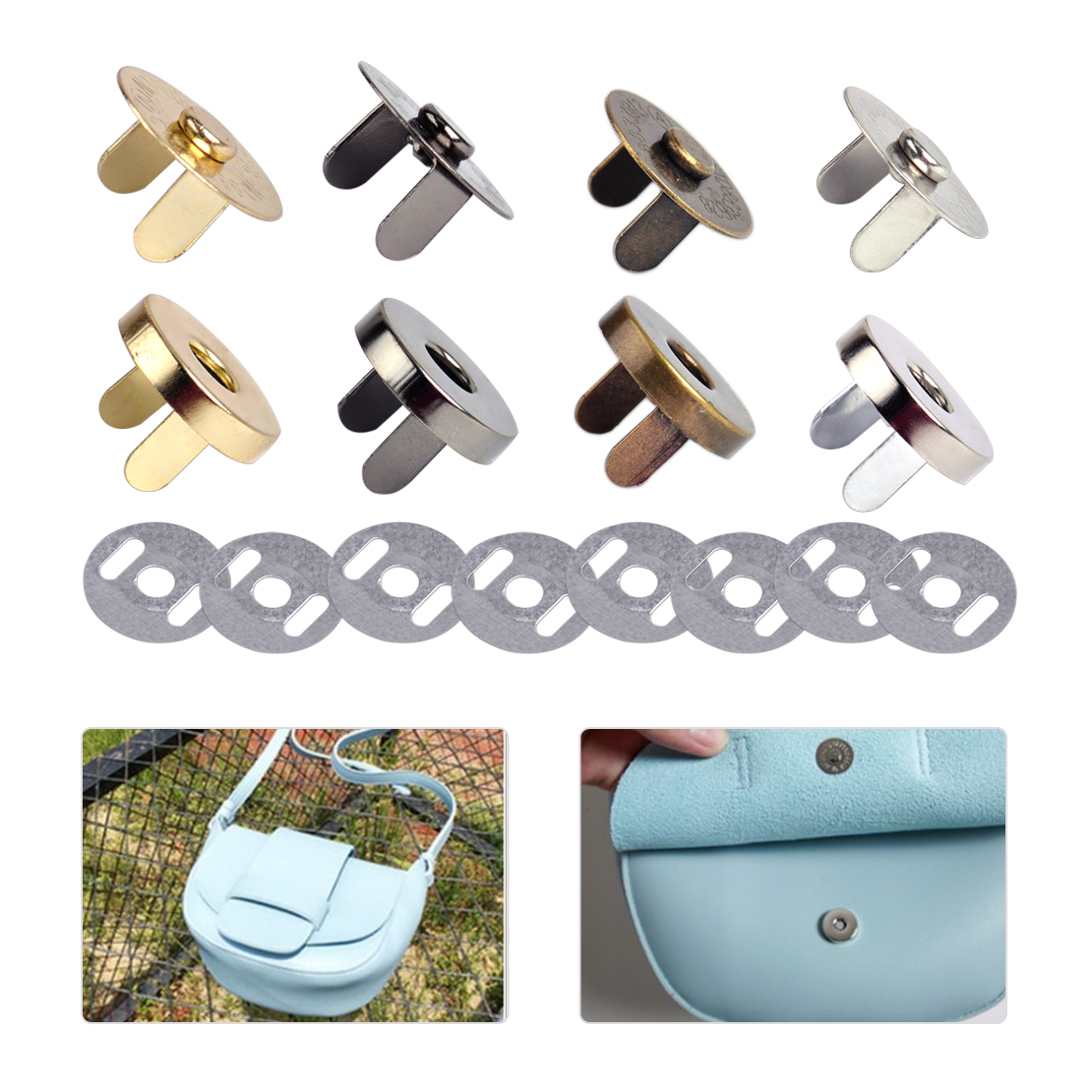 18mm Bag Purse Round Magnetic Snaps Closures Button Clasp