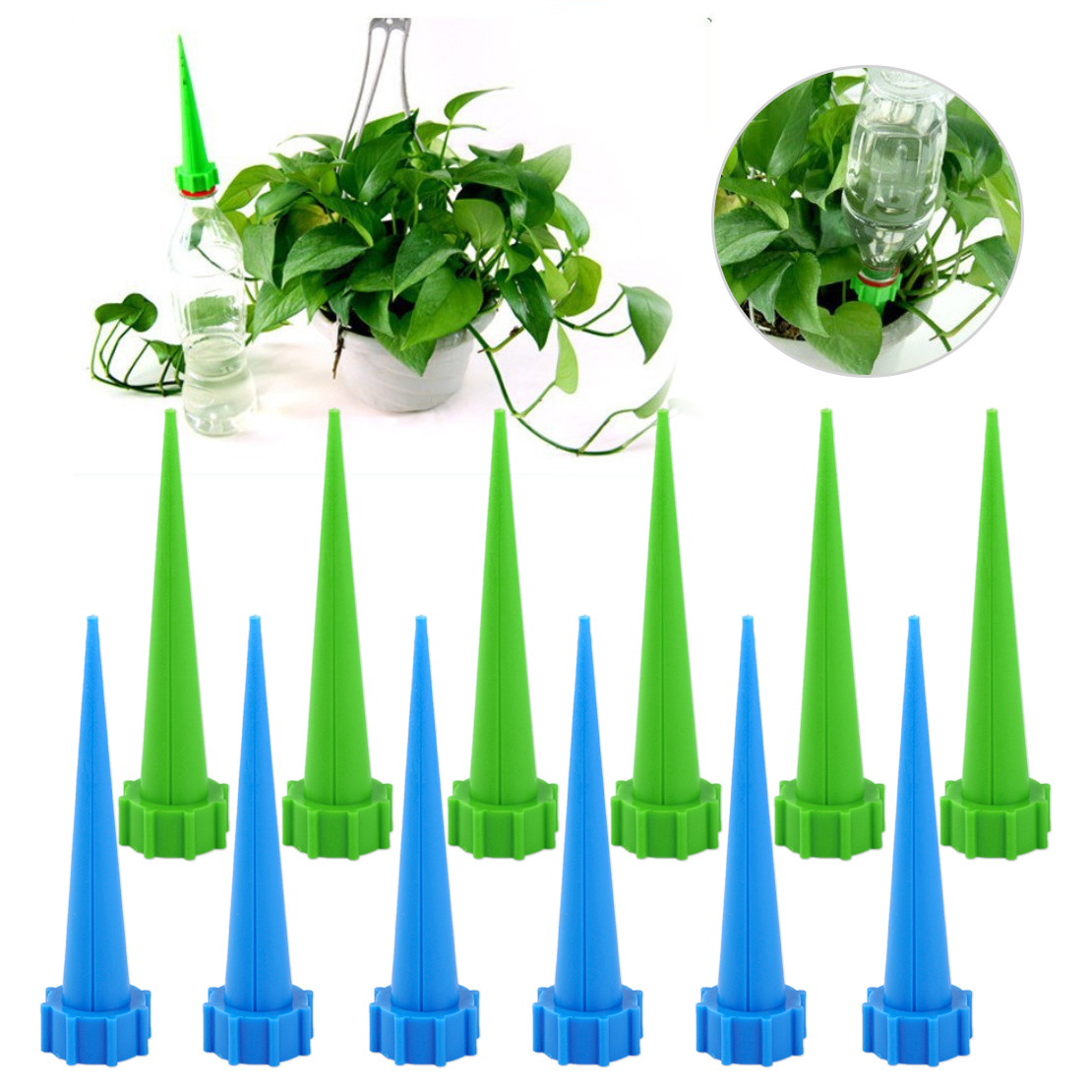 Auto Self Watering System Plant Water Drip Irrigation Garden Cone Watering Spike