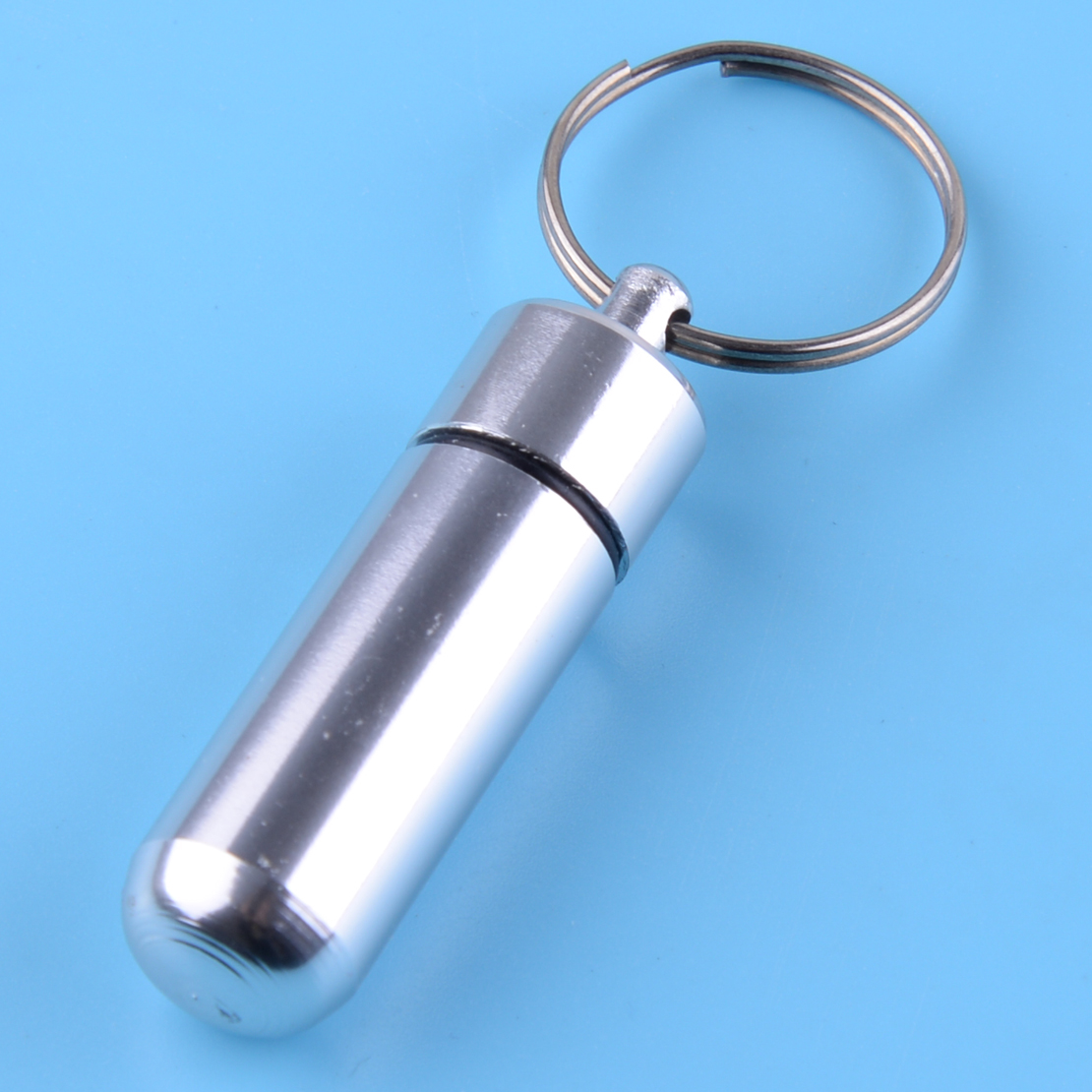 Wasserdicht Tablettendose Mini EDC Pillendose Schlüsselanhänger Medikamenten