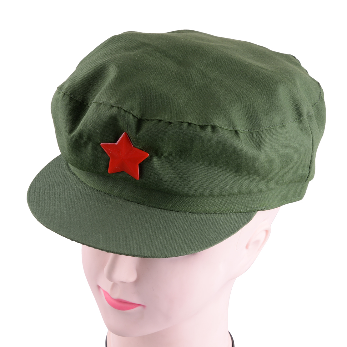 Details about China Chairmen Mao PLA Red Army Soldier Green Star Cap  Communist Party Hat 019d4a37087d