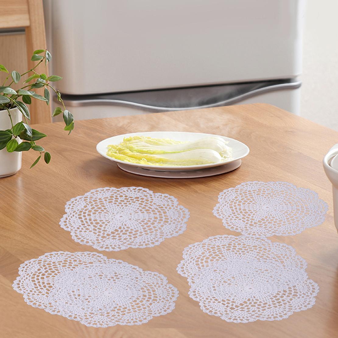 12er Häkeldeckchen Spitzendeckchen Deckchen Tischdecke Nur Beige können 20 cm