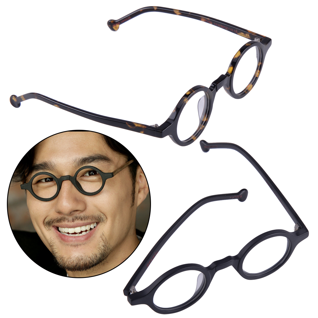 38mm Small Round Vintage Eyeglass Frames Spectacles