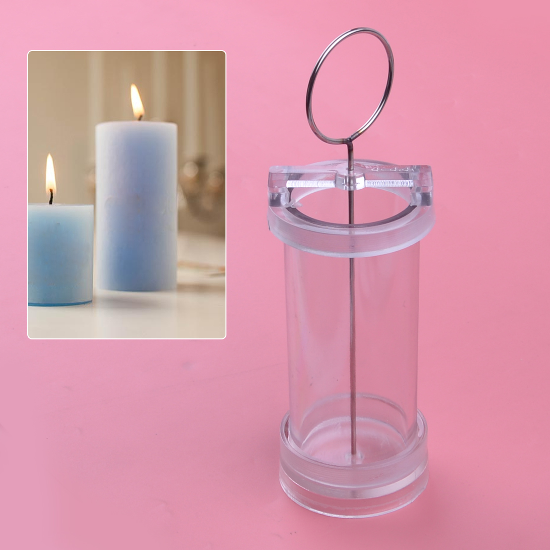 1 set Clear Egg Shaped Candle Mold Candle Making Model for DIY Candle Crafts
