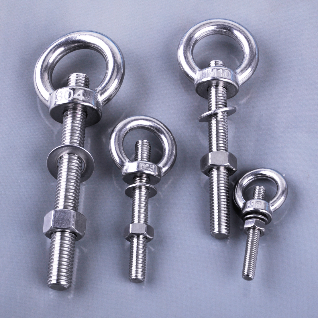 Color : M6x40 1Pc M6 M8 M10 M12 Stainless Steel Lifting Eye Bolts Eyebolts with Nuts /& Washers Set Round Ring Hook Bolt Screw Fasterners