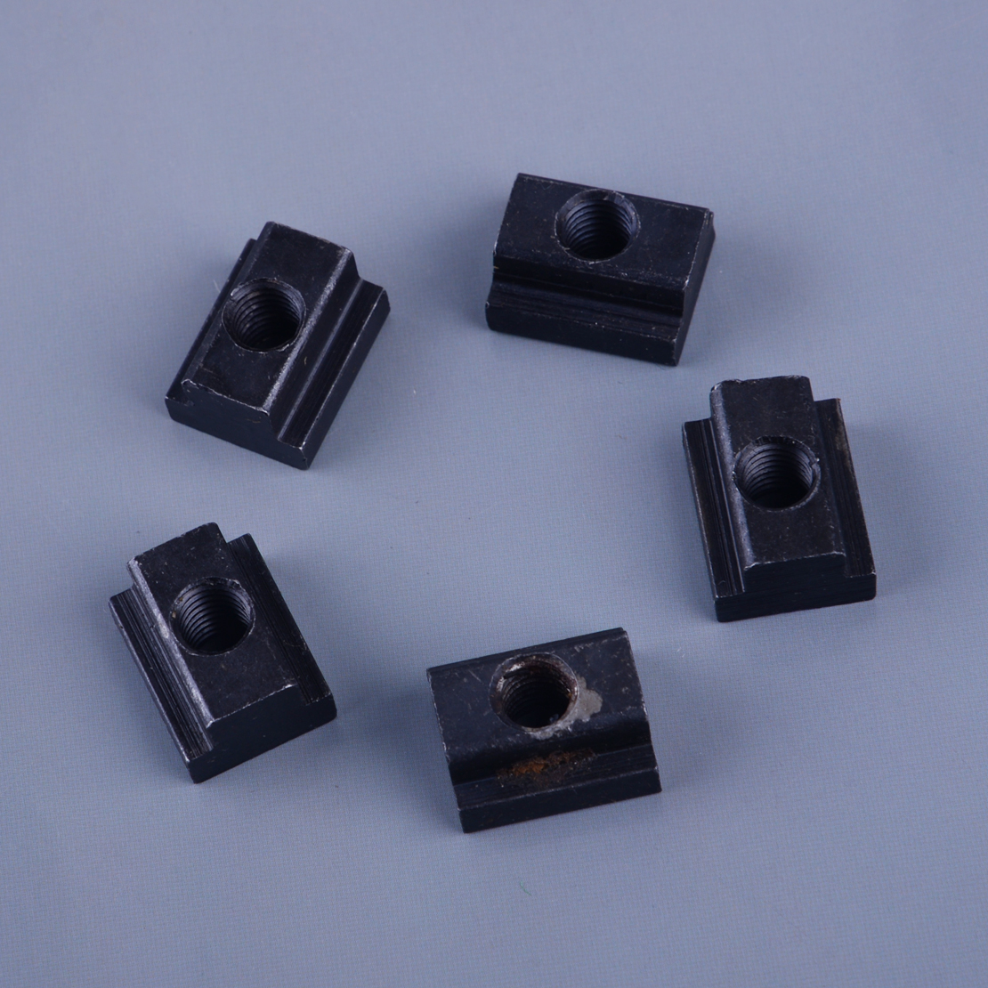 Black Oxide Finish T Slot Nuts M8//10 Threads Fit Into T-Slots in Machine Tool Tables 5 pcs M8