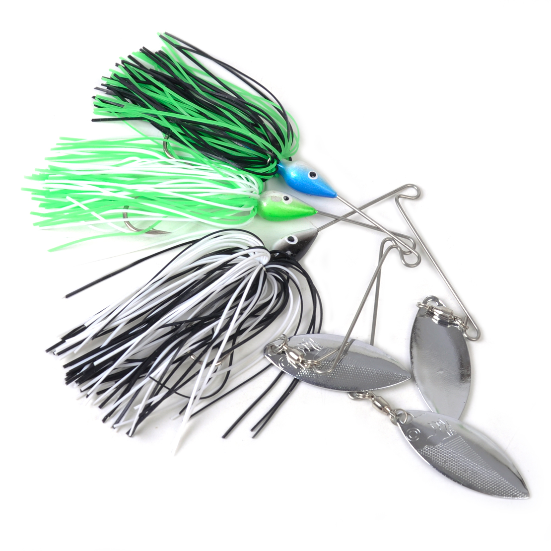 6pcs spinner bait buzzbait fishing lures bass crank tackle for Bait for bass fishing