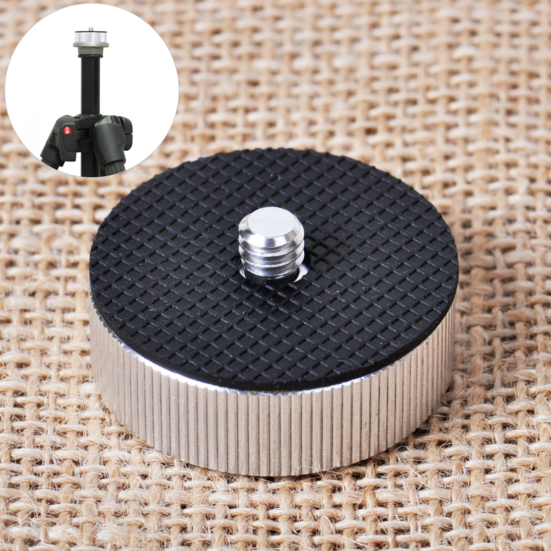 """4x 1//4/"""" Male Screw to 3//8/"""" Female Adapter Plate Converter for Tripod Monopod"""